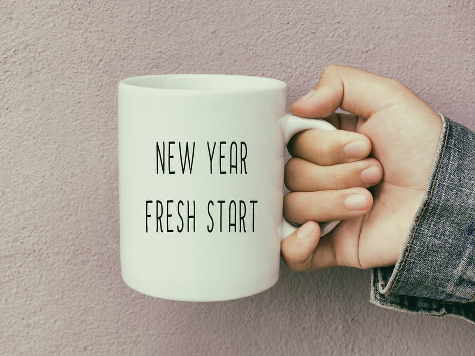 picture of a mug saying New Year Fresh Start with a London Divorce Solicitor