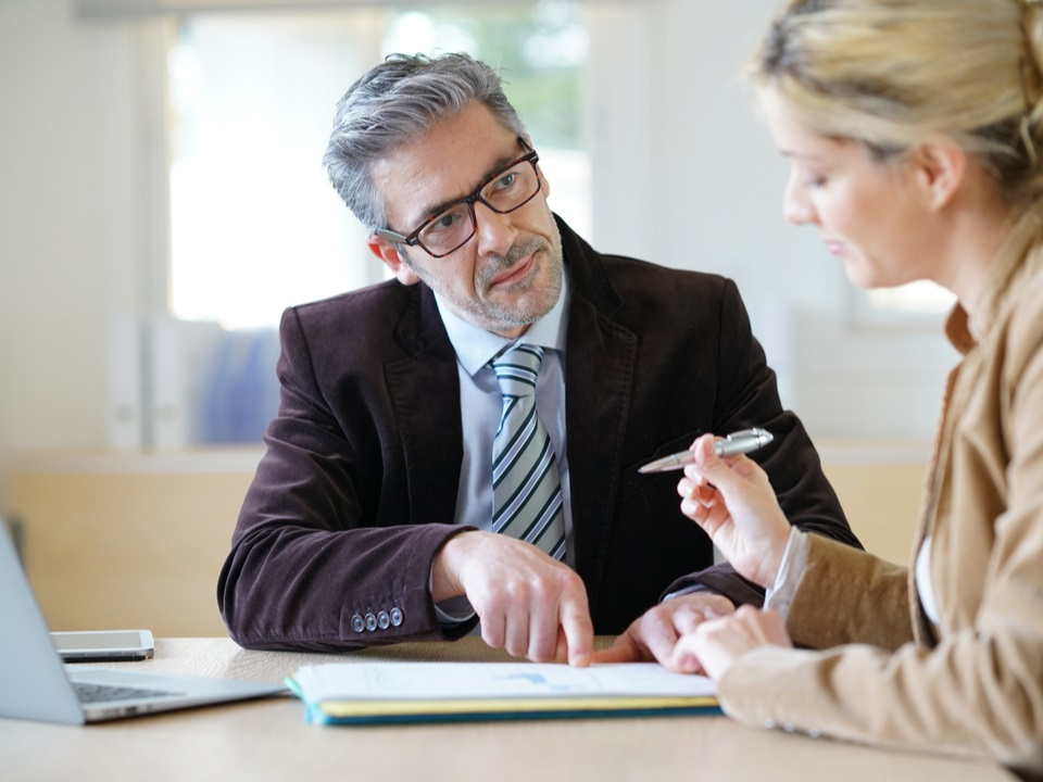 A client meeting with a divorce lawyer in london