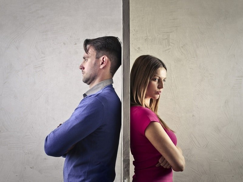 grounds for divorce a man and a woman separated by a wall